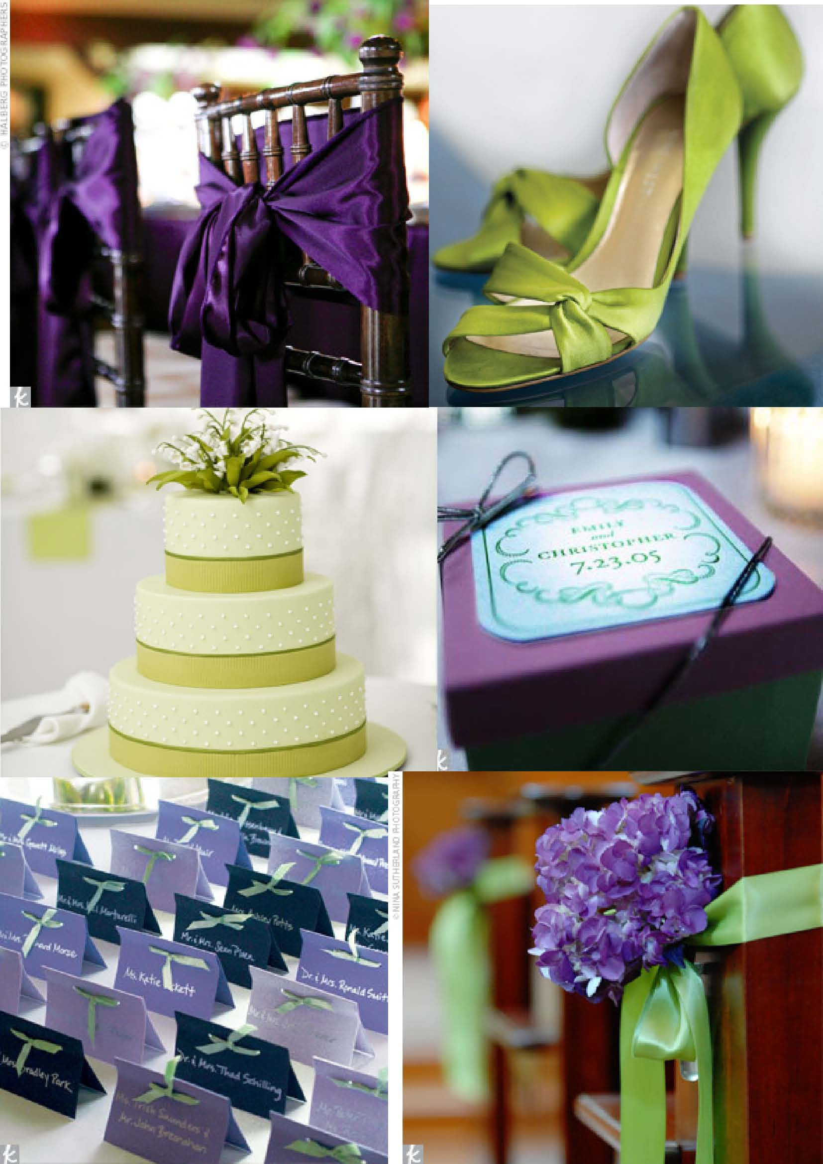 gallery for purple and green wedding theme